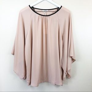 Pleione Blush Pink Flowy Oversized Blouse